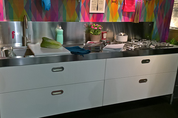 Colorful kitchen in Köln fair 2017