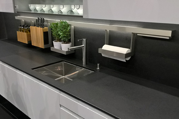 Grey thin kitchen worktop